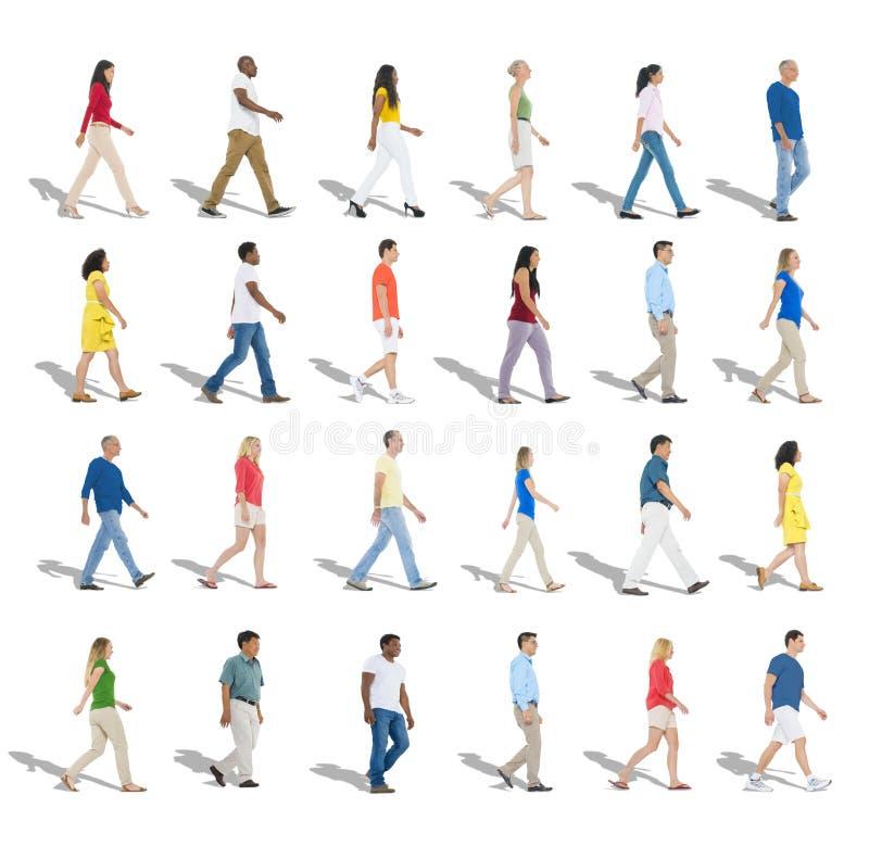 Concept multi-ethnique d'unité de variation d'appartenance ethnique de diversité illustration libre de droits