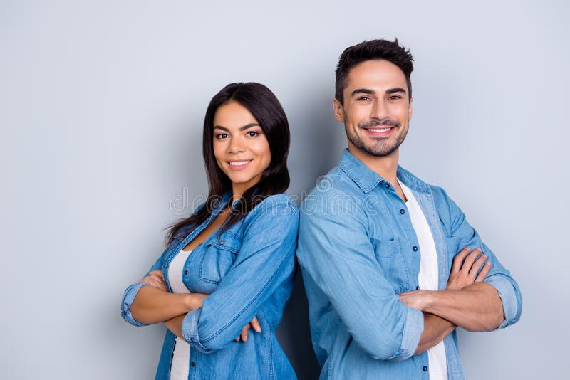 Concept of multiethnic cooperation and friendship. Attractive de stock photography