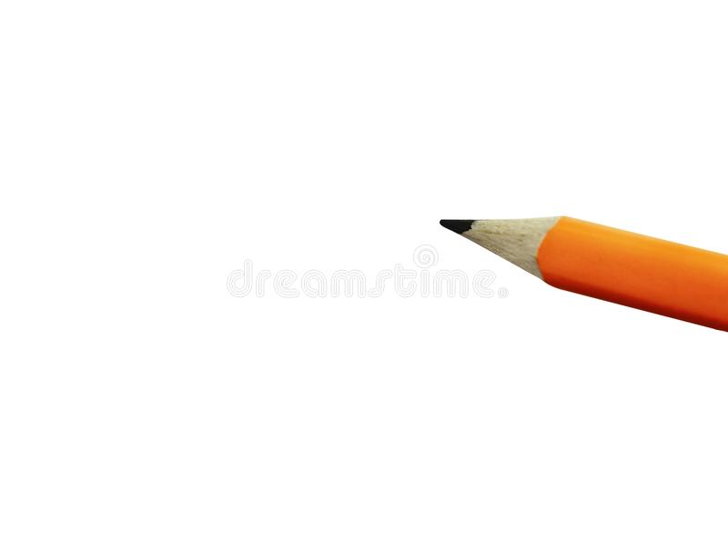 The concept of multitasking, a pencil draws on white paper. stock image
