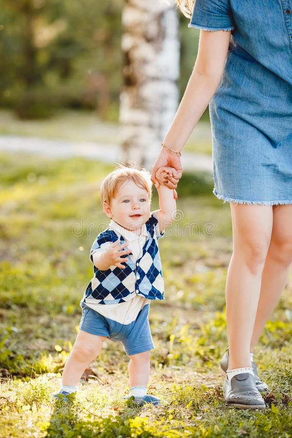 Concept mum and son royalty free stock photos