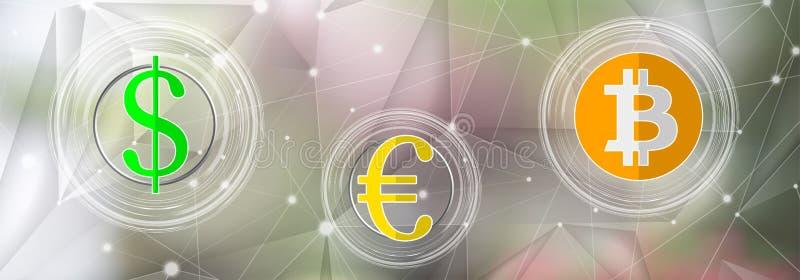 Concept muntuitwisseling stock illustratie