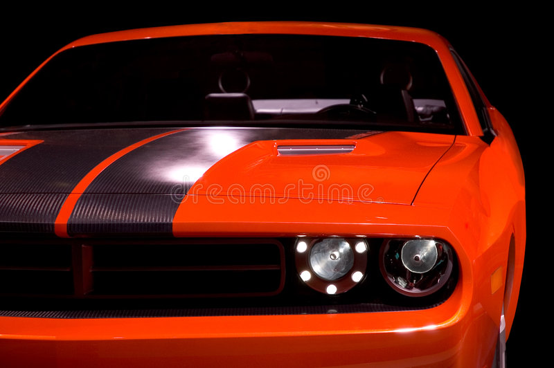 Concept Muscle Car stock photo