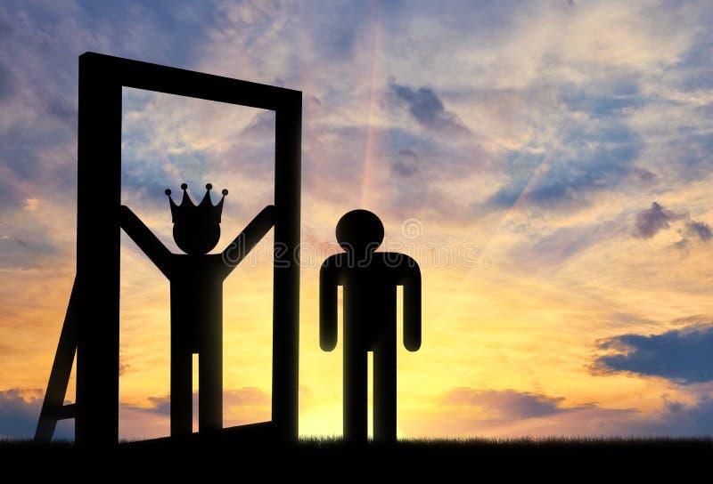 Concept narcisme en egoïsme vector illustratie