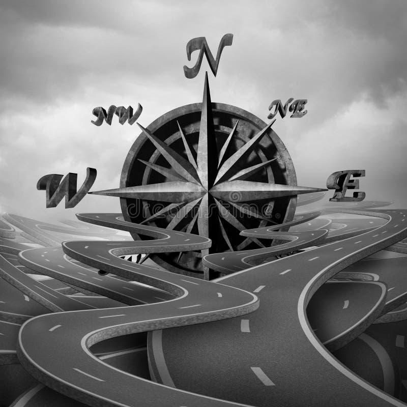 Concept Navigatie royalty-vrije illustratie