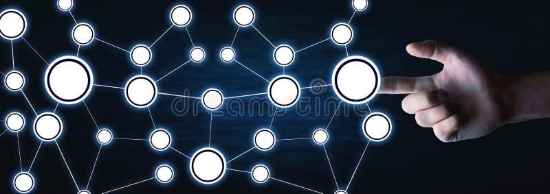 Concept netwerk Internet-mededeling stock afbeelding