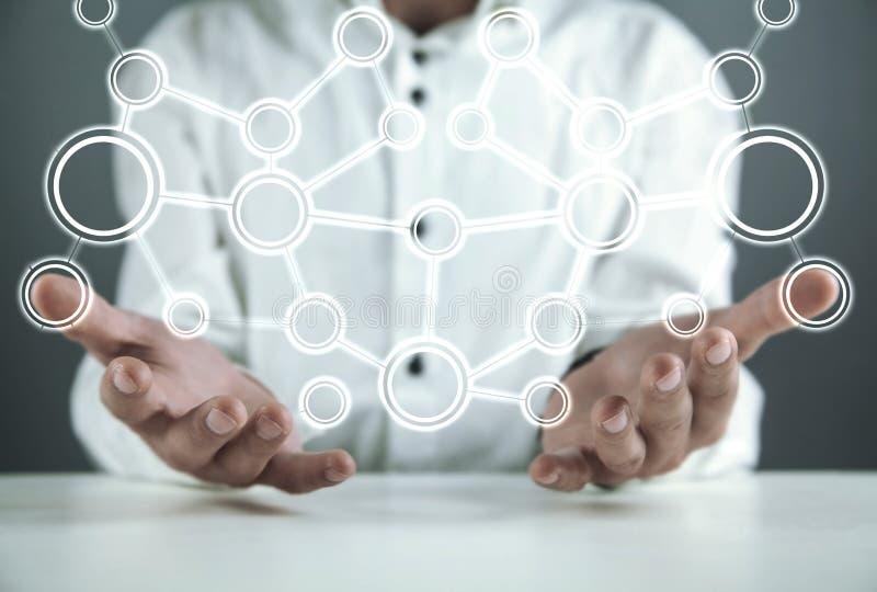 Concept netwerk Internet-mededeling stock afbeeldingen