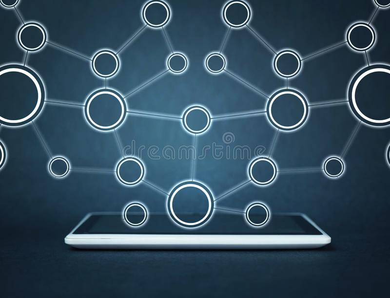 Concept netwerk Internet-mededeling royalty-vrije stock foto's