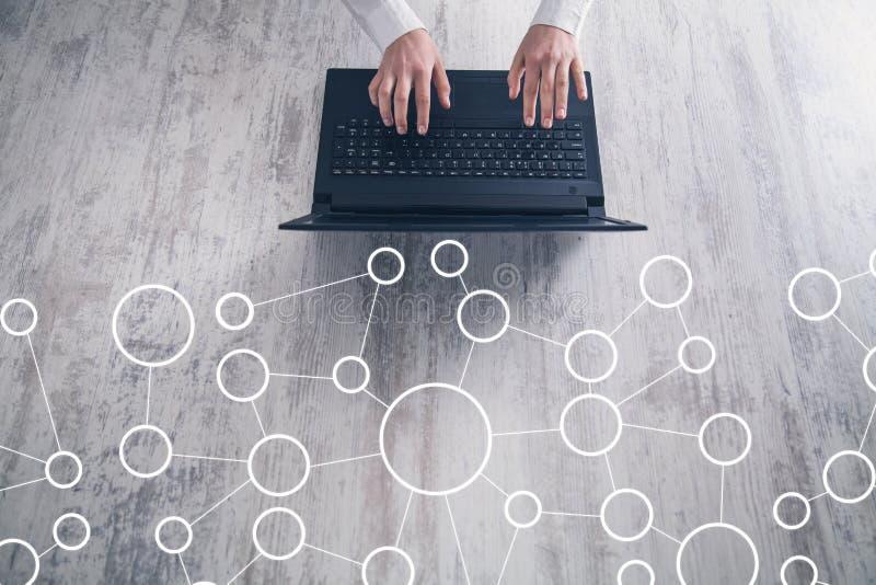 Concept netwerk Internet-mededeling Globale Aansluting royalty-vrije stock afbeeldingen