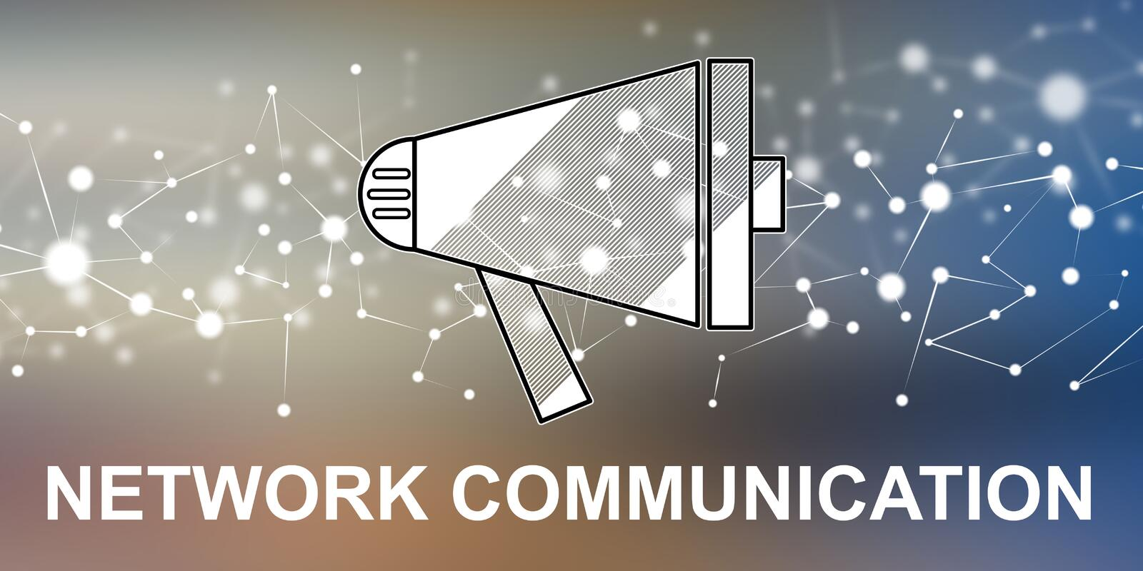 Concept of network communication vector illustration