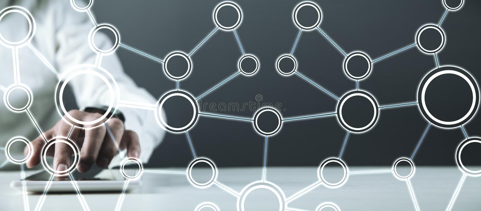 Concept of Network. Internet communication royalty free stock image