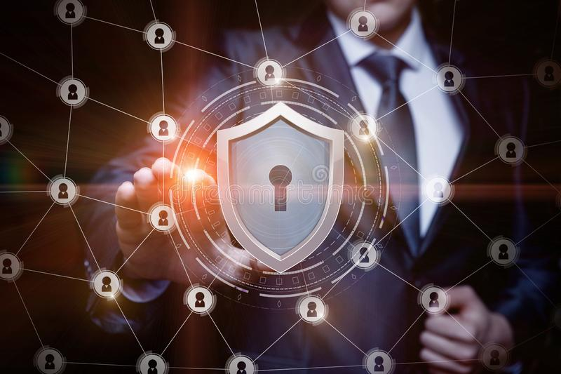 The concept is the the network security. royalty free stock photos