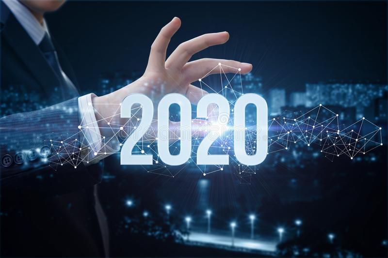 The concept of a new 2020 business year stock image