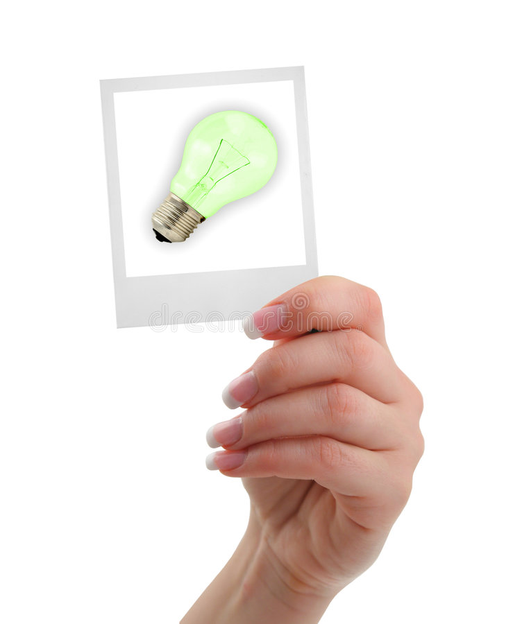 Concept of a new idea stock images