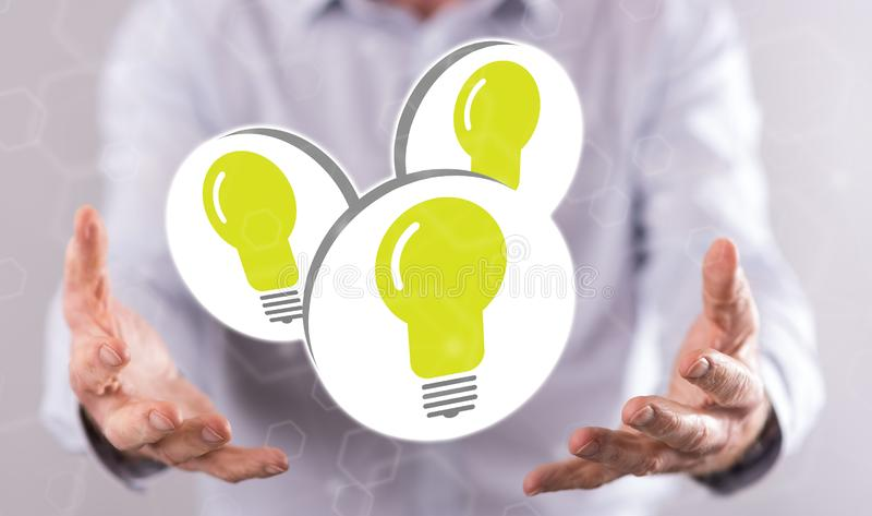 Concept of new ideas stock photo
