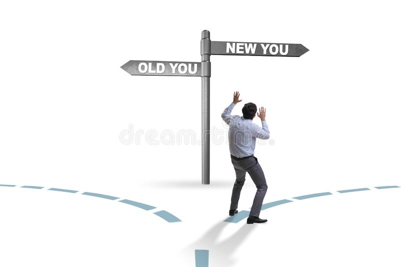 The concept of new and old life stock photo