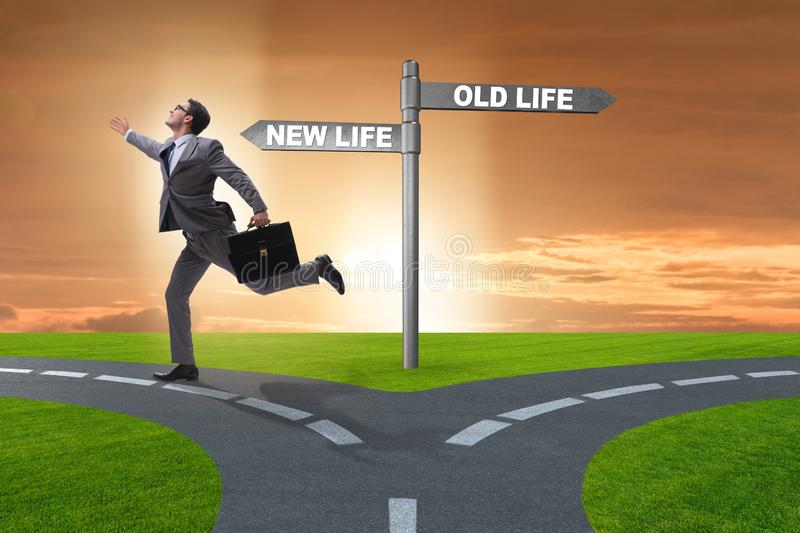 The concept of new and old life royalty free stock photography