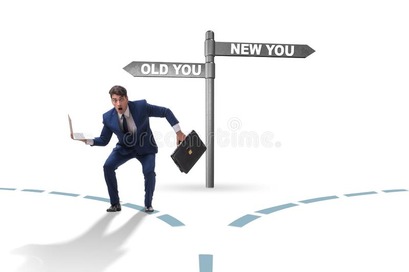 Concept of new and old life stock photo