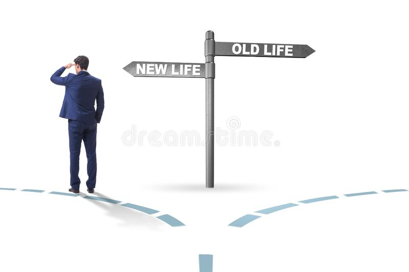 Concept of new and old life stock photography