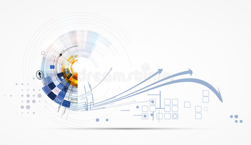 Concept for New Technology Corporate Business & development. Background vector illustration