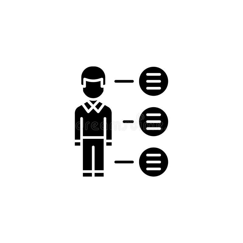 Concept noir d'icône de gros points noirs Symbole plat de vecteur de gros points noirs, signe, illustration illustration libre de droits