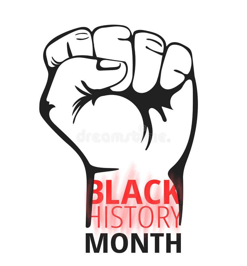 Concept noir de mois d'histoire Vecteur illustration de vecteur