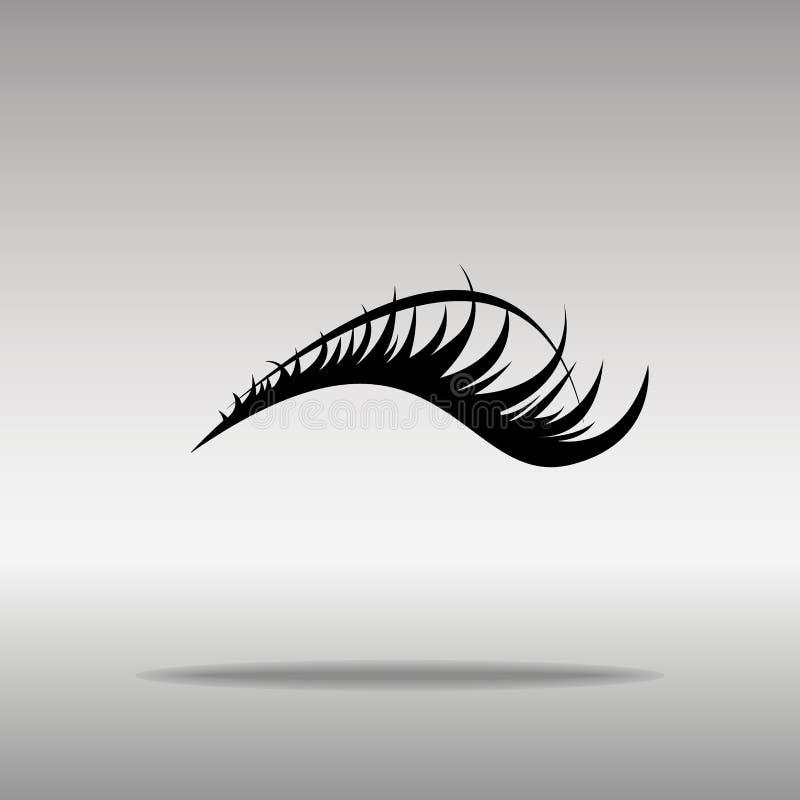 Concept noir de symbole de logo de bouton d'icône de cils de haute qualité photos libres de droits