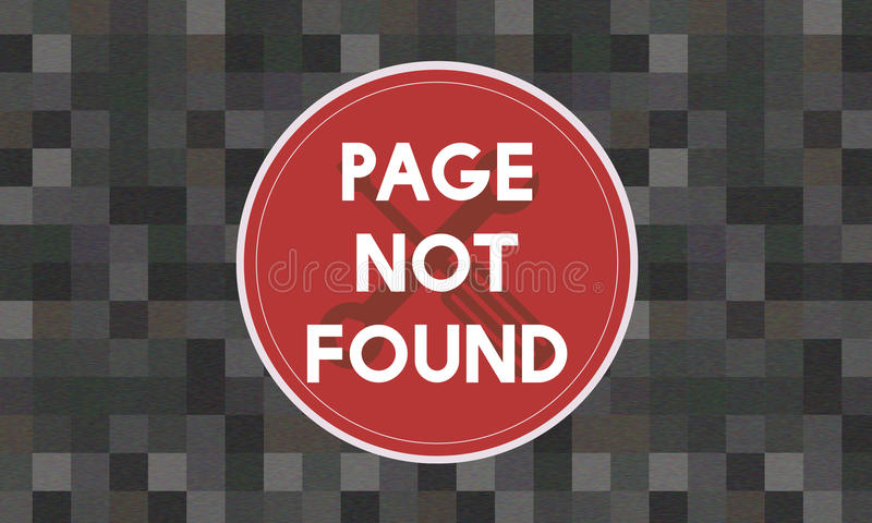 Concept non trouvé de problème du message 404 de page illustration de vecteur