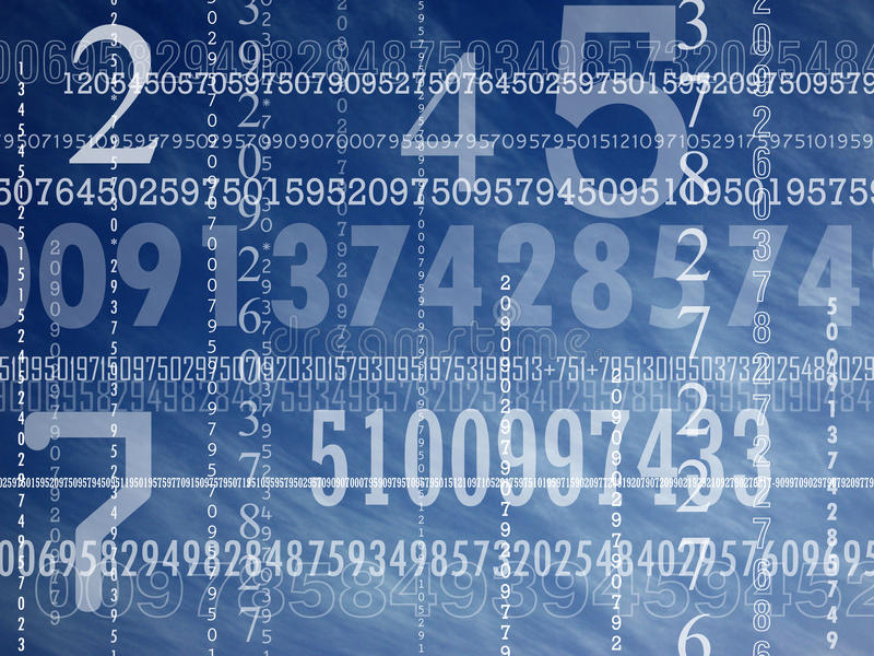 Concept of numbers stock image