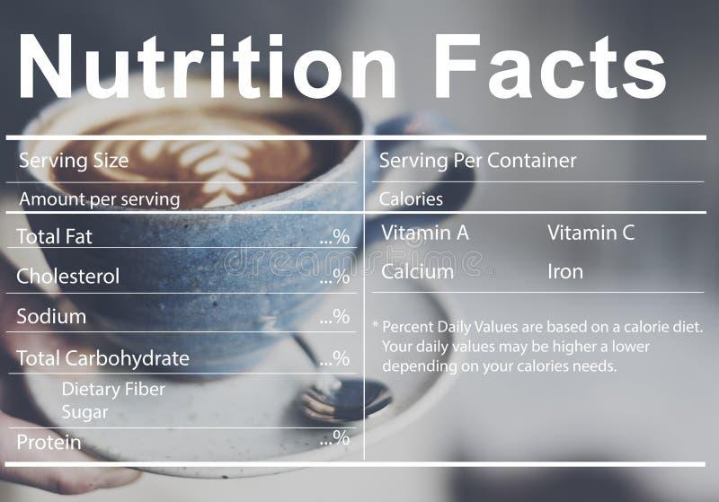 Concept nutritionnel de régime médical de faits de nutrition images libres de droits
