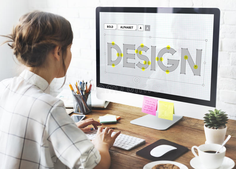 Concept objectif de croquis topographique d'idées créatives d'ébauche de conception photos stock