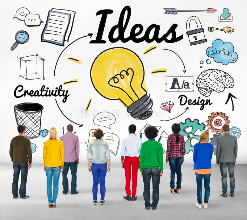 Concept objectif de mission de plan de développement de vision d'idée d'idées photo libre de droits