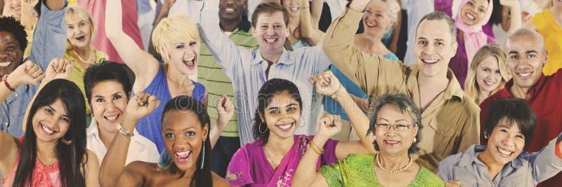 Concept occasionnel de groupe de société de diversité de personnes images libres de droits