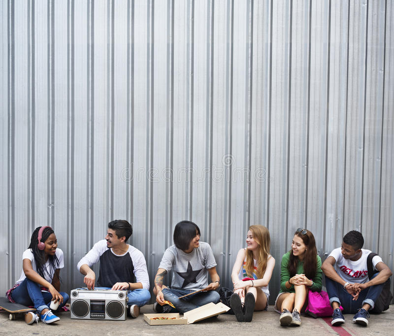 Concept occasionnel de style de la jeunesse de culture de mode de vie d'adolescents images stock