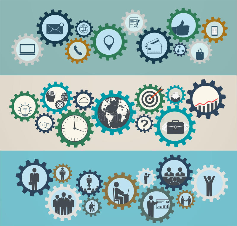 Free Concept Of Mechanisms With Business Icons, Workforce Stock Photo - 46263420