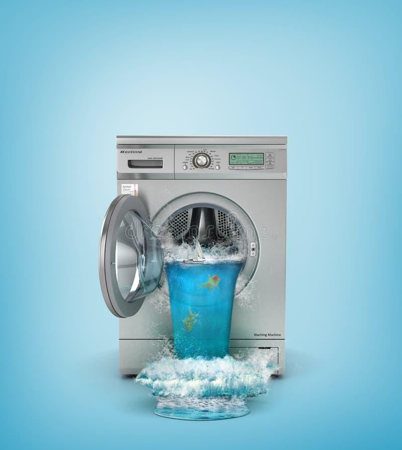 Free Concept Of Washing. Broken Washing Machine. Royalty Free Stock Images - 74683539
