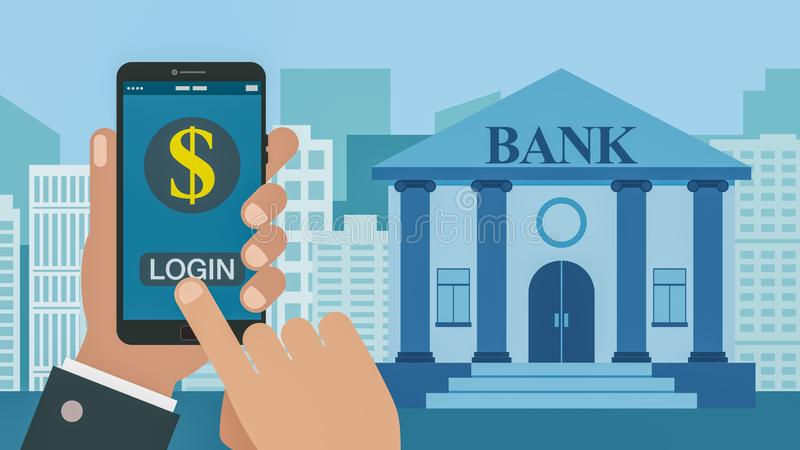 Concept online bankwezen stock illustratie