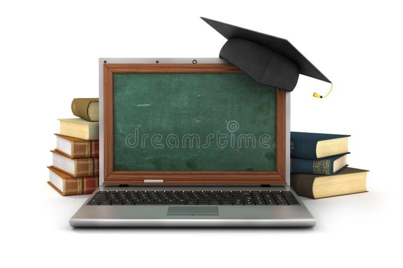 Concept online het bestuderen of webinar royalty-vrije illustratie