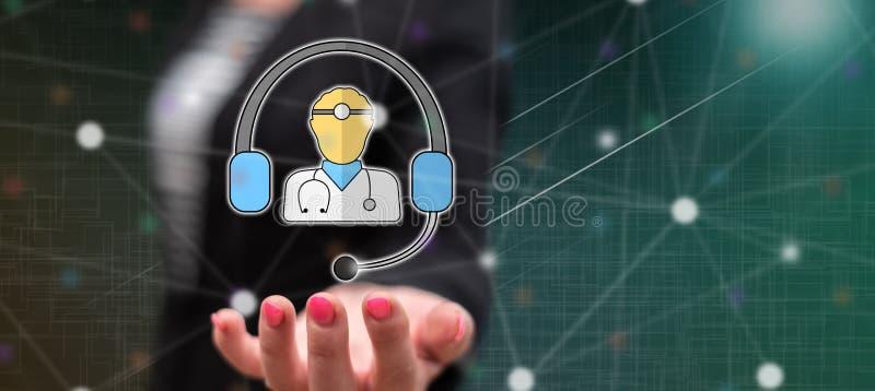 Concept online medische behandeling stock afbeelding
