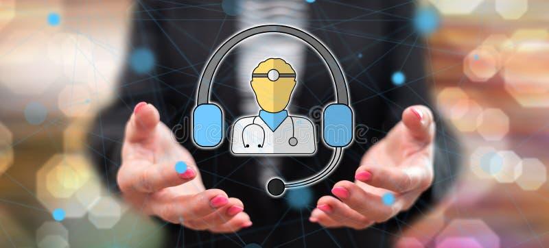Concept online medische behandeling royalty-vrije stock afbeeldingen