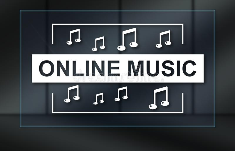 Concept of online music stock photo