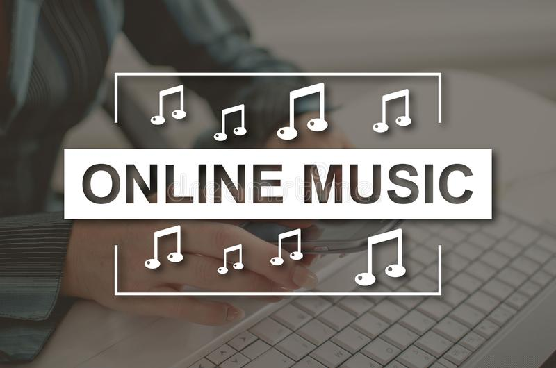Concept of online music royalty free stock photography