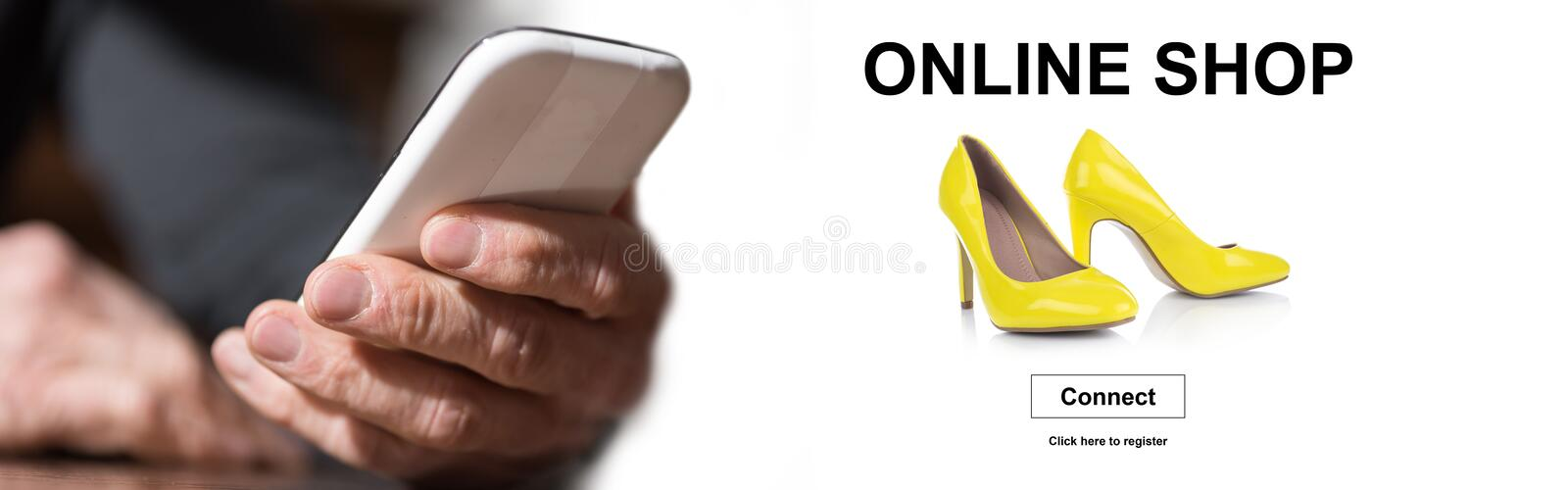Concept of online shop royalty free stock photos