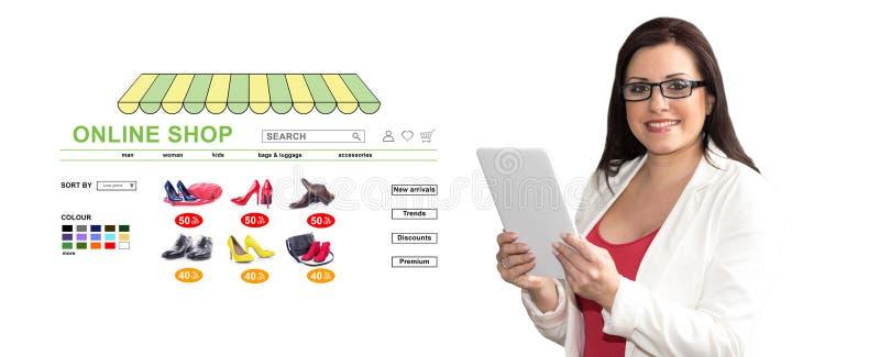 Concept of online shop stock photo