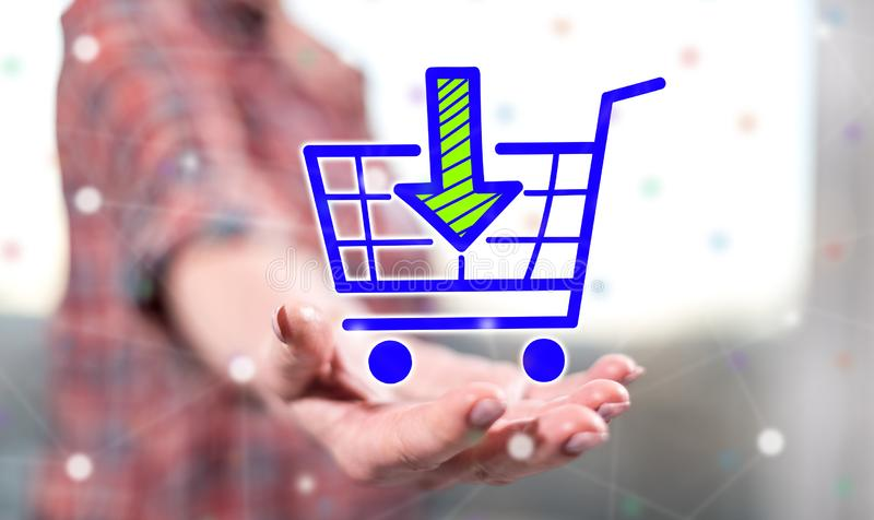 Concept of online shopping royalty free stock photo