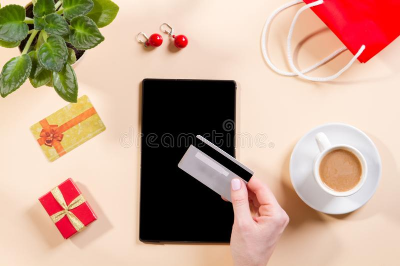Concept online shopping stock image