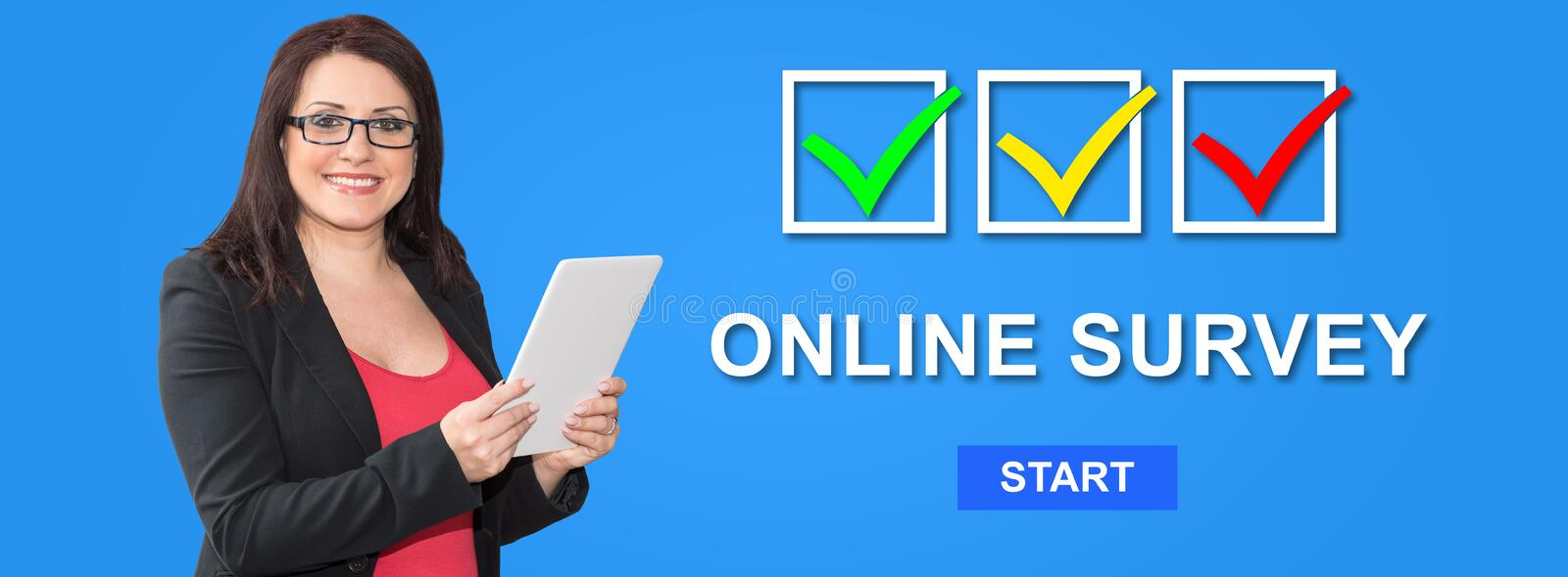 Concept of online survey royalty free stock photo