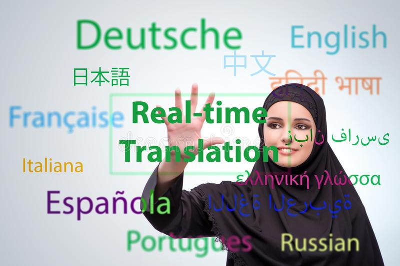 Concept of online translation from foreign language. The concept of online translation from foreign language stock images