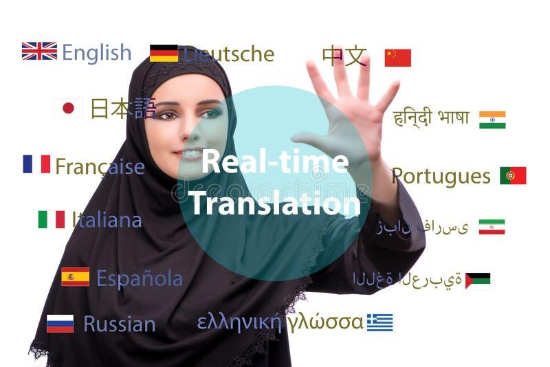 Concept online vertaling van vreemde taal stock fotografie