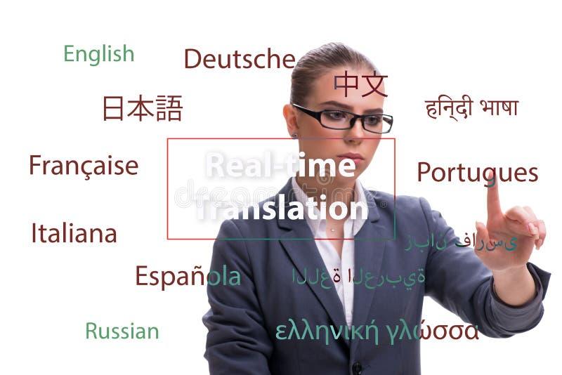 Concept online vertaling van vreemde taal stock foto's