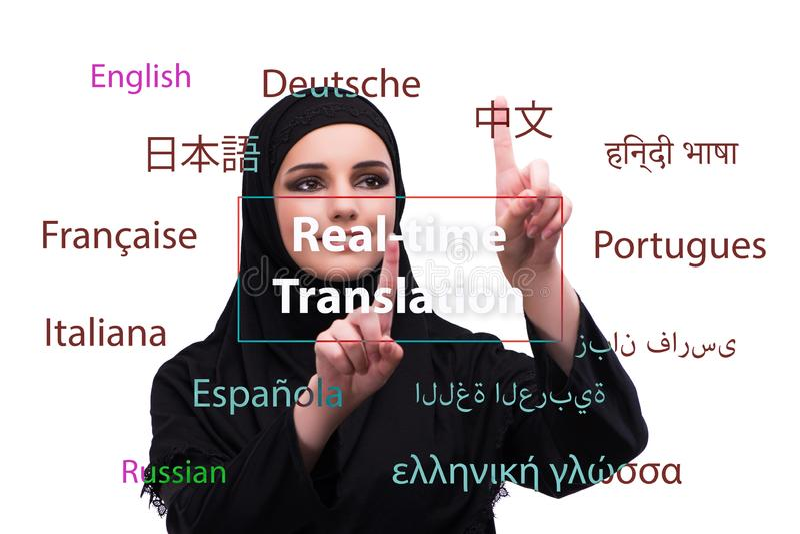 Concept online vertaling van vreemde taal royalty-vrije stock foto